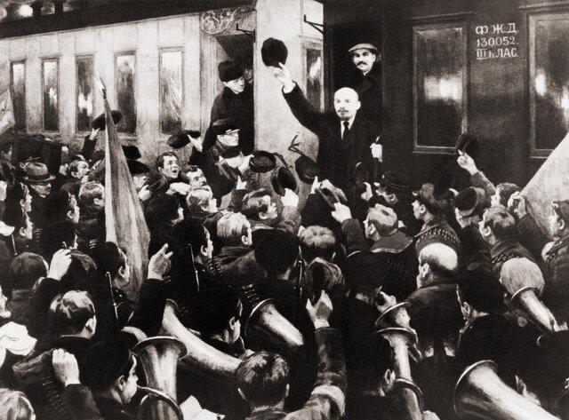Vladimir Lenin returns to Petrograd