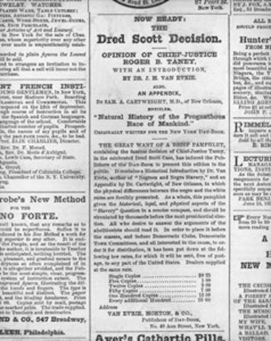 Dred Scott Decision - Dred Scott v Sanford
