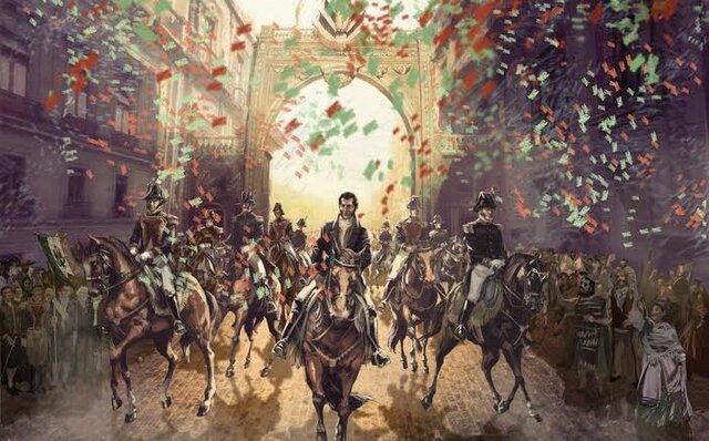 1821 el Ejército Trigarante