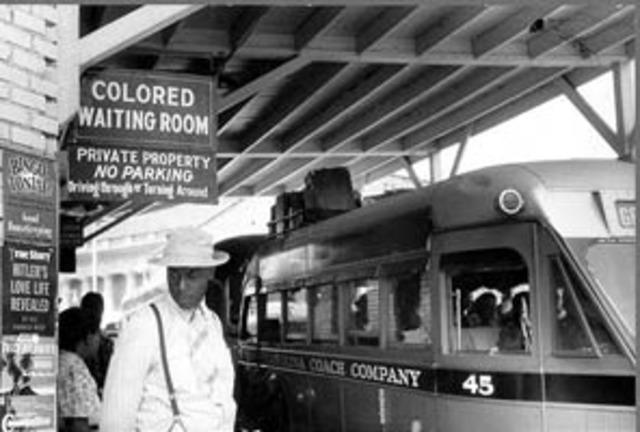 "First ""Jim Crow"" law"