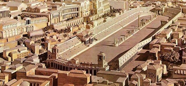 Construction du cirque maxime par Tarquin l'ancien