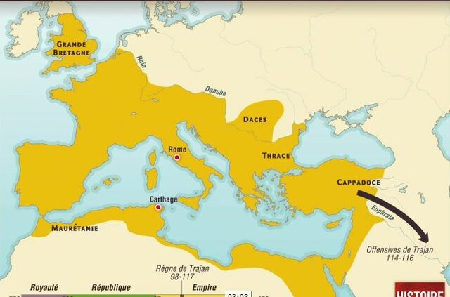 Apogée de l'empire romain