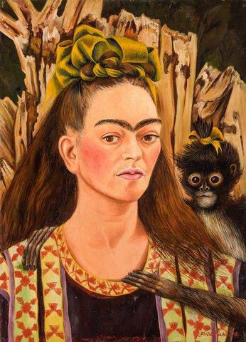 autoretrato con monos