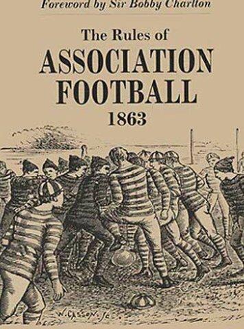 Primer reglamento de Cambridge de fútbol
