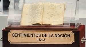 1813, Sentimientos de la nacion