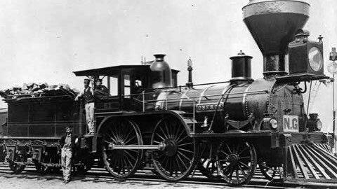 Premier chemin de fer au Canada