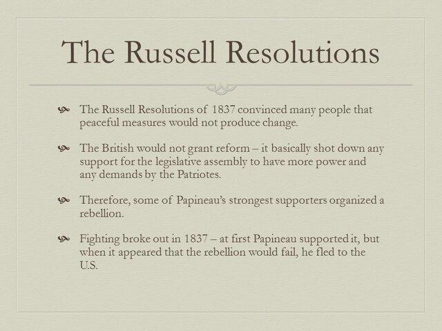 Résolutions Russell