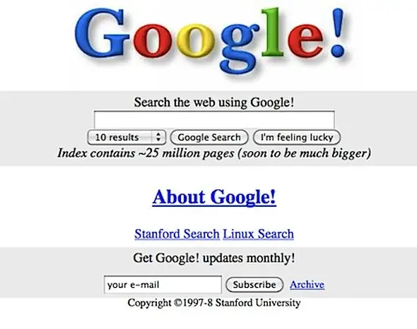 Google Search Engine by Larry Page, Sergey Brin, and Scott Hassann