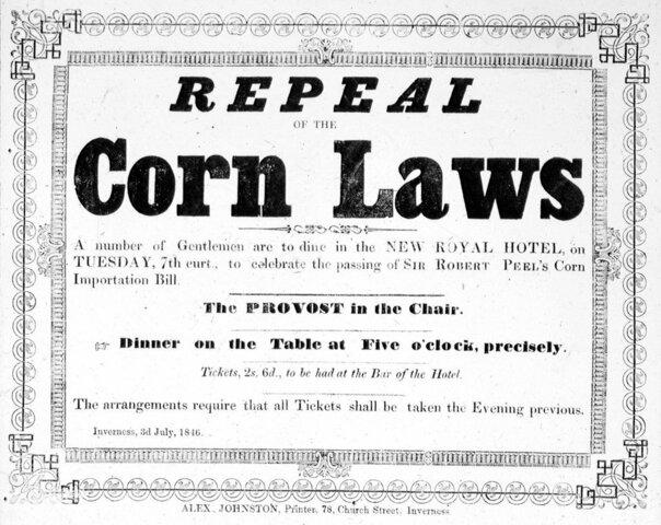 Adoption des Corn Laws