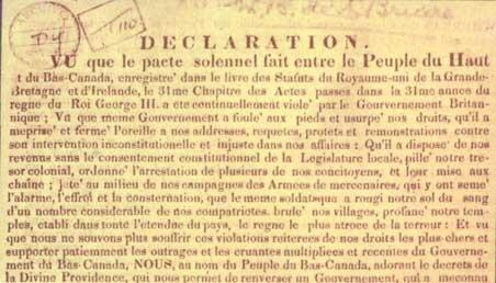 Déclaration d'indépendance du Bas-Canada