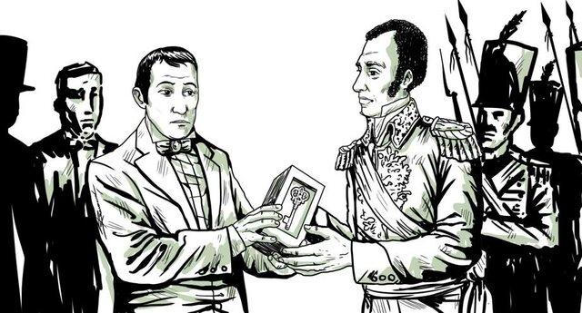 Núñez de Cáceres le entrega el poder a Boyer
