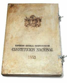 constitución 1853