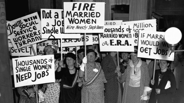 Female unemployment during the Great Depression