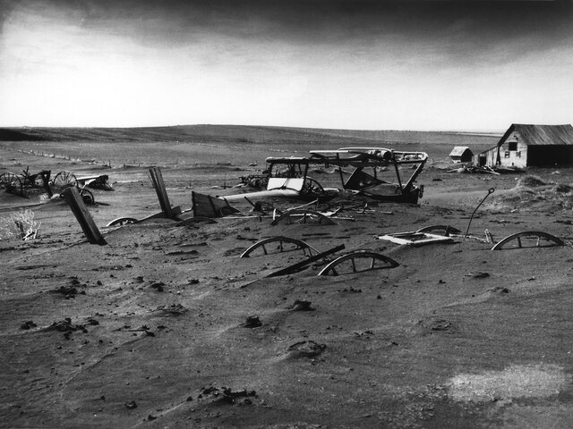 Dust bowl ravages farmers during the depression