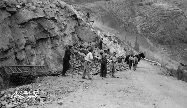 Unemployed workers placed in relief camps during the height of the Great Depression