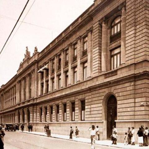 Inauguración del edificio de la SEP