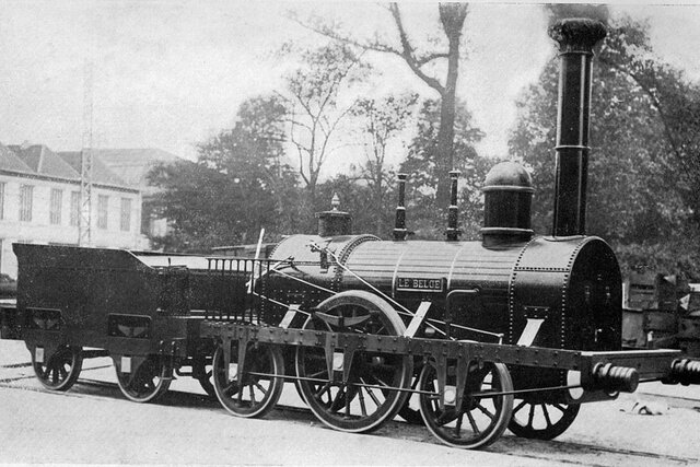 Eerste spoorlijn gereed in engeland