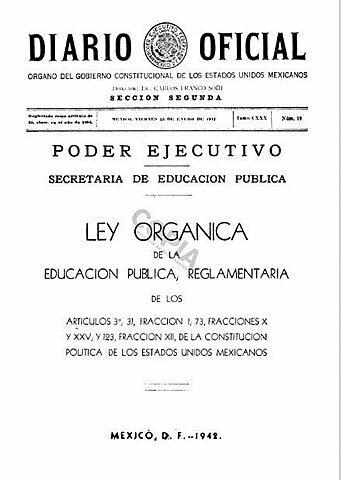 Primera  Ley Orgánica de Educación
