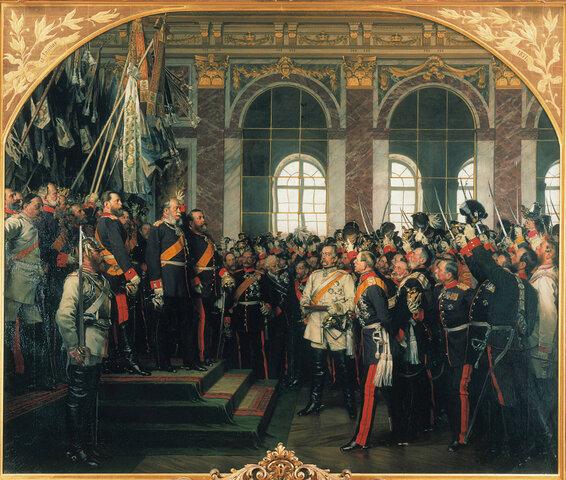 Koning van Pruisen wordt gekroond in Versailles als keizer van het nieuwe Duitse rijk