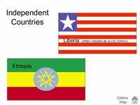 Alleen Liberia en Ethiopië waren nog onafhankelijk in Afrika