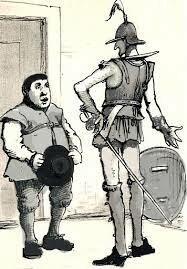 El Quijote en busca del escudero