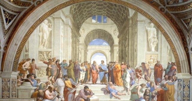 Escuela de Atenas:Rafael Sanzio