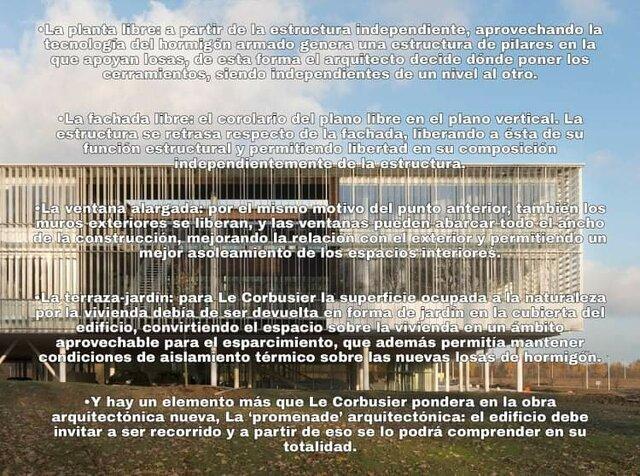 Los 5 puntos de la nueva arquitectura