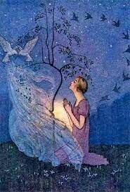 Cinderella by a Magic Tree