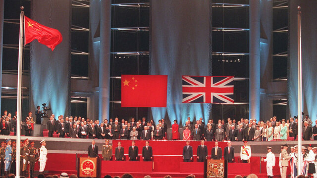 Hong Kong returned to CCP