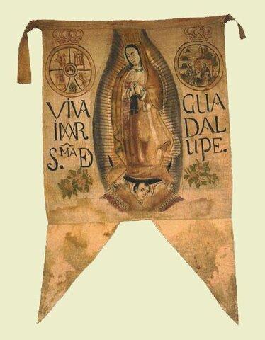 El estandarte con la virgen Maria