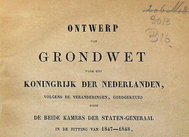 grondwet van Thorbecke