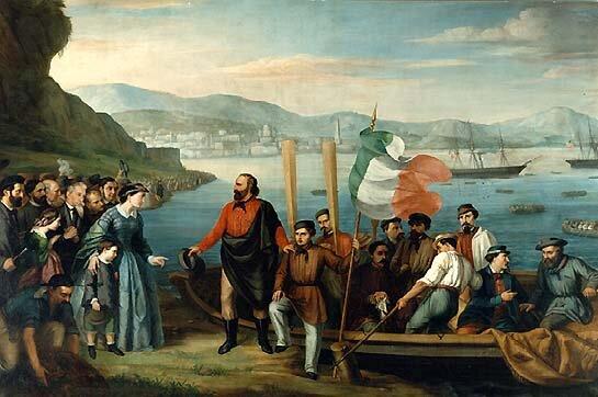 Garibaldi guida la spedizione dei MILLE