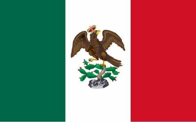 Bandera del Imperio de Iturbide.