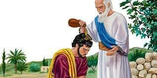 El profeta samuel unge a saúl como rey de israel