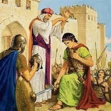 El profeta samuel unge a David como rey de israel