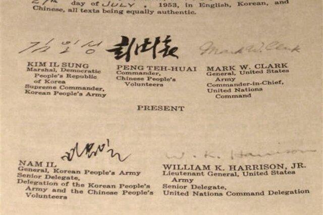 Korean Armistice Agreement (North Korea + South Korea + U.S.+ USSR)