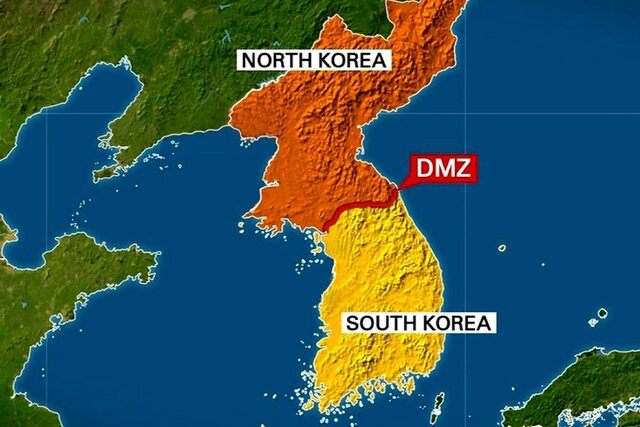 Dividing of the two Korea's