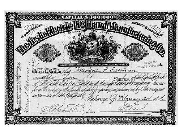 Tesla funda Tesla Electric Light & Manufacturing.