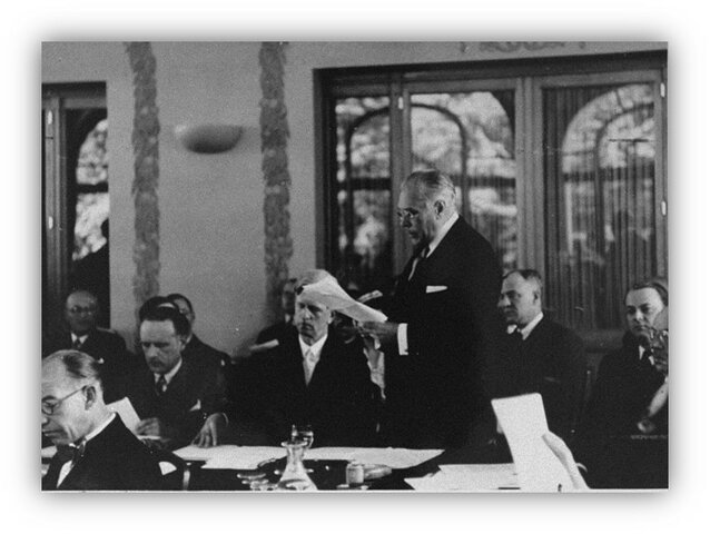 Signing the Treaty of Evian