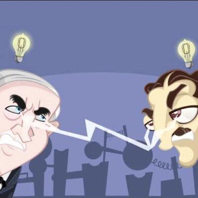 linea temporal guerra de las corrientes Tesla vs Edison timeline