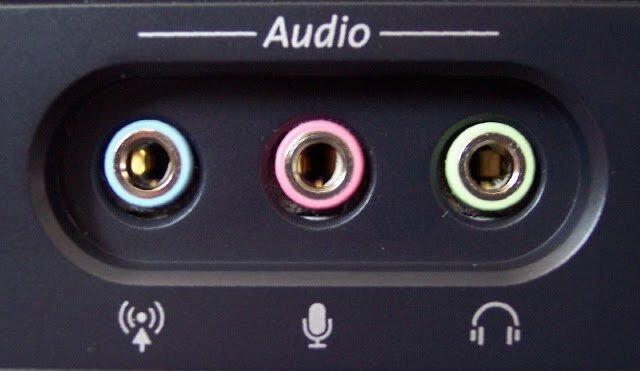 Puertos de audio minijack