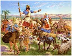 Joshua leads the jews to promised land