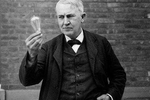 Edison y la primera Lámpara