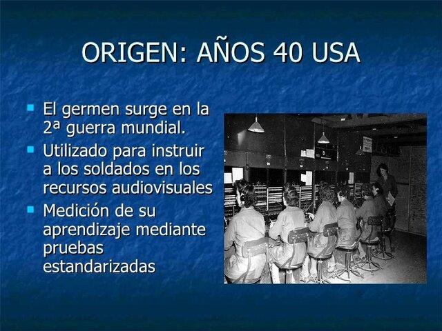 origenes de las tecnologias educativas