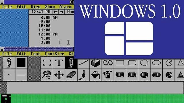 Microsoft estrenó Windows 1.0