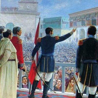 Principales acontecimientos de la independencia de Perú timeline