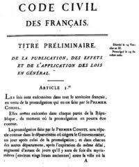 Creación del Código Civil Francés