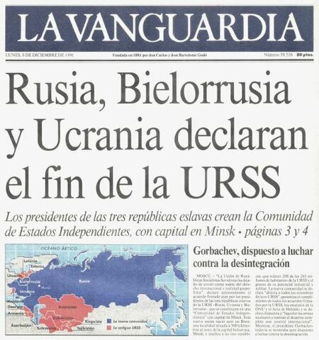 Disolución de la URSS