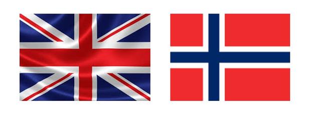Inglaterra y Noruega se unen.