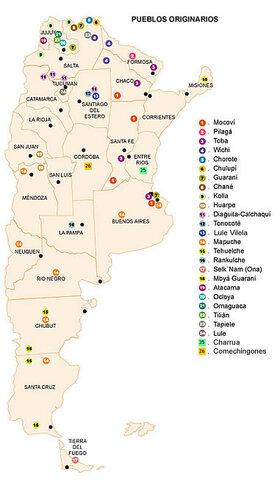 Los pueblos originarios del actual territorio argentino